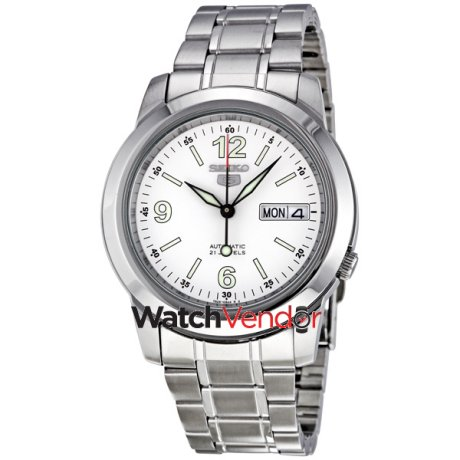 Seiko 5 Automatic White Dial Stainless Steel Men S Watch Snke57