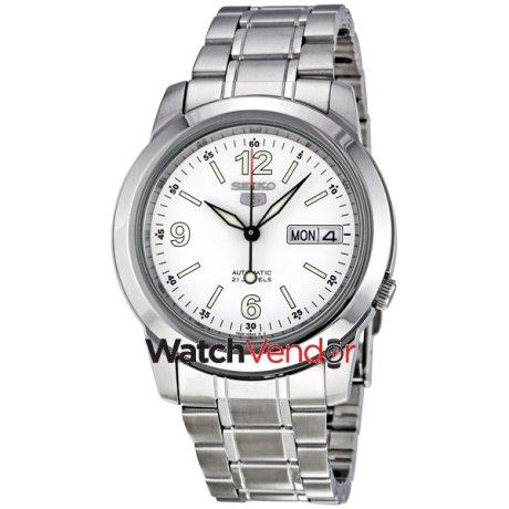 Seiko 5 Automatic White Dial Stainless Steel Men S Watch Snke57